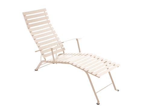 fermob bistro colourful designer folding metal chaise longue