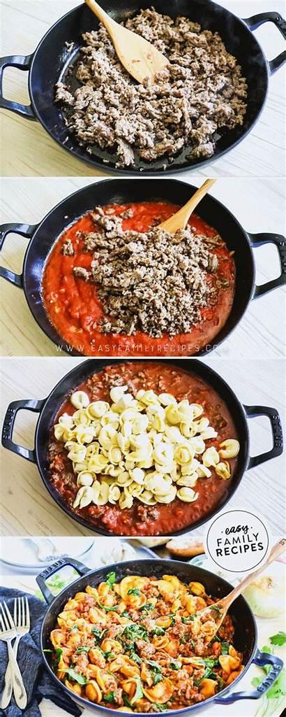 Sausage Italian Easy Tortellini Skillet Dinner Healthy