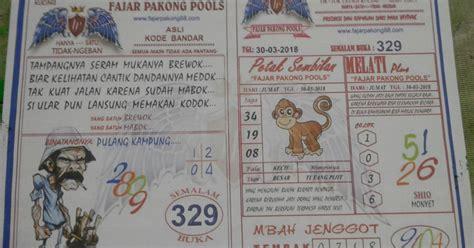 kode syair fajar pakong hk malaysian pools  maret  pakong pools lottery