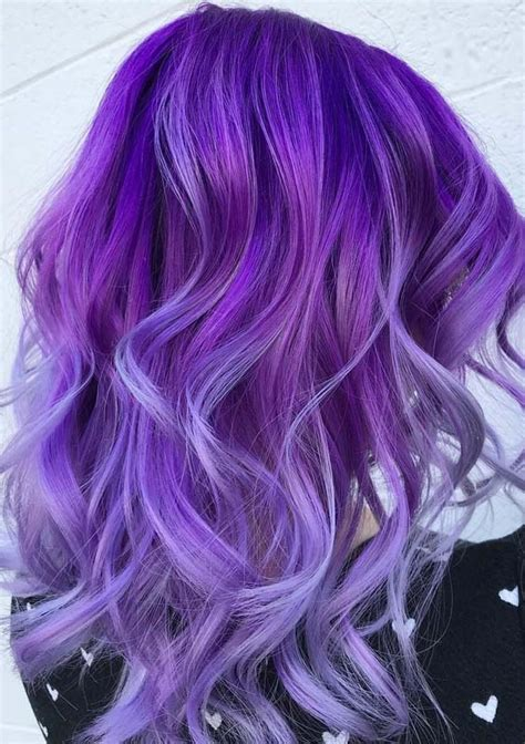 purple hair color styles 34 gorgeous purple hair color trends for 2018 hollysoly 9168