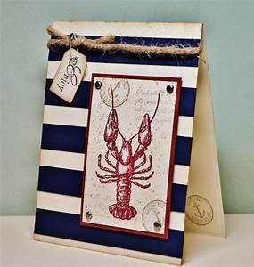 Masculine Nautical Card Father's Day Card Red by ...