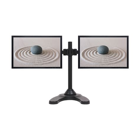 desk depth for 24 monitor dual lcd monitor desk stand mount free standing adjustable