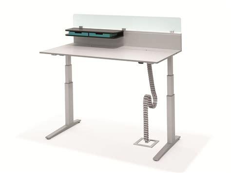 workplace desks office workstation t lift desk by bene design christian