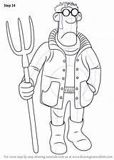 Farmer Sheep Shaun Draw Step Drawing Drawings Sketch Coloring Cartoon Gambar Template Tutorial Drawingtutorials101 Tutorials sketch template