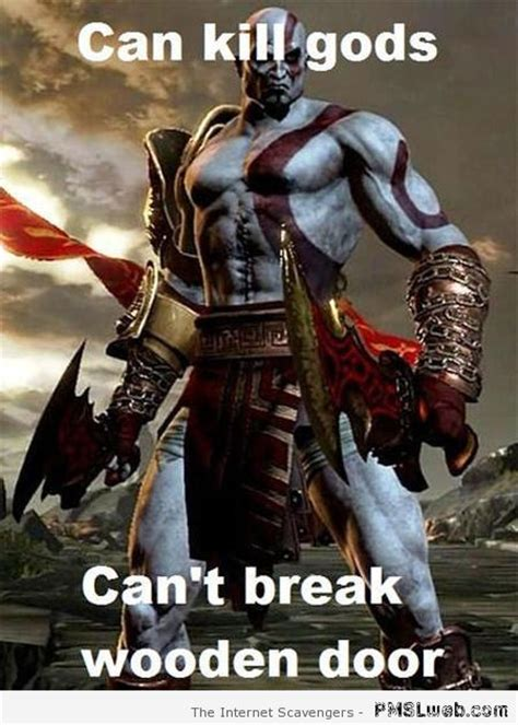 God Of War Memes - video game logic no common sense allowed beyond this point pmslweb