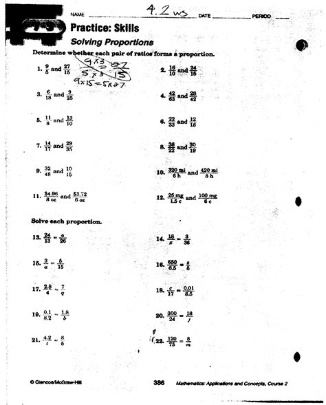 ratio and proportion worksheet with answers worksheets for