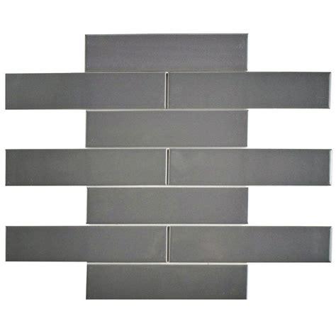 subway tile home depot merola tile metro soho subway glossy grey 1 3 4 in x 7 3