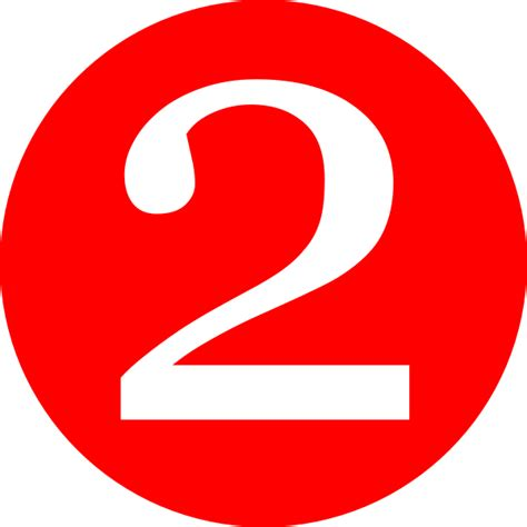Red, Rounded,with Number 2 Clip Art At Clker.com