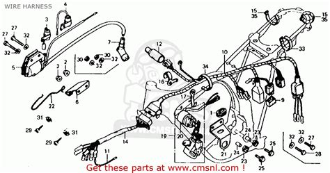 honda xl125 k0 1974 usa wire harness buy wire harness spares