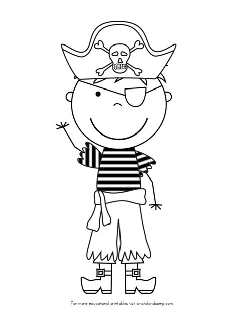pirate coloring page kid color pages