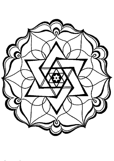 geometric design coloring pages    print