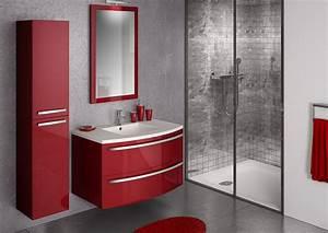 ondine laque rouge discac cuisines salles de bains With meuble salle de bain ondine