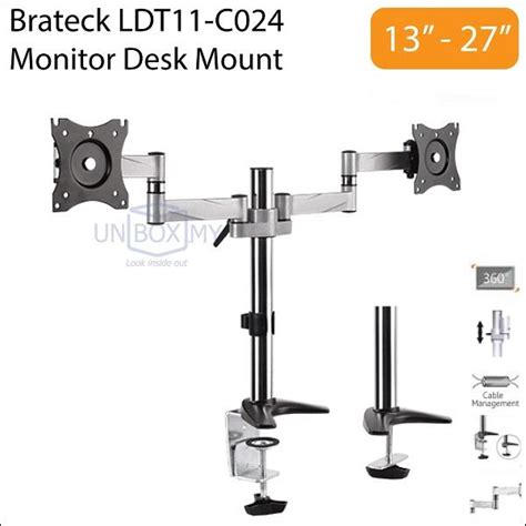 brateck cpu holder desk mount brateck ldt11 c024 13 27 inch dual lc end 2 7 2018 8 15 pm