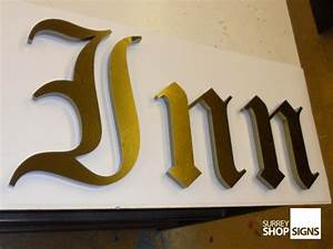 mirror polished gold shop sign letters surrey shop signs With gold letter sign