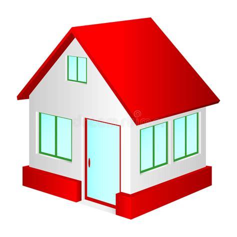 Haus Mit Rotem Dach Vektor Abbildung Illustration Von