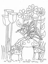 Fairy Coloring Garden Pages Colouring Pixie Fairies Adults Printable Water Pixies Dark Mural Flower Sheets Coloringpagesbymradron Spring Coloriage Books Alphabet sketch template