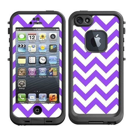 purple lifeproof iphone 5s skins for the lifeproof iphone 5 chevron purple by