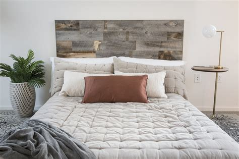 Wood Headboards by Stikit Reclaimed Weathered Wood Panel Headboard Stikwood