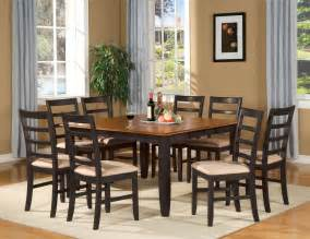 9 pc square dinette dining room table set and 8 chairs ebay