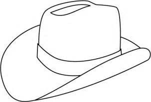 Cowboy Hat Outline Coloring Page
