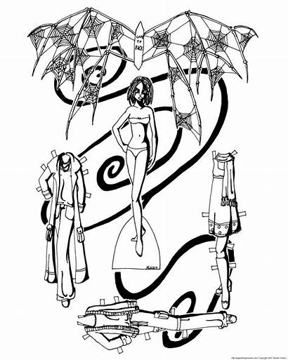Doll Fairy Paper Gothic Coloring Bone Pages