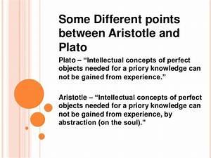 Compare And Contrast Plato And Aristotle  Plato Vs