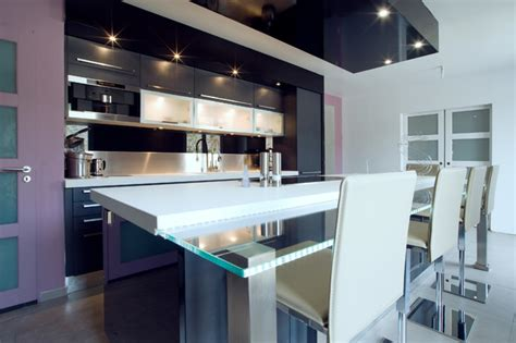 grande cuisine moderne grande cuisine design italien finition anthracite par severine kalensky moderne cuisine