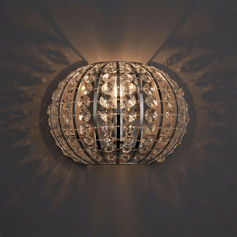 galeo chrome effect single wall light departments diy at b q