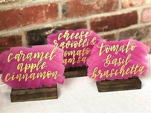 Painted, Back, Acrylic, Wedding, Dinner, And, Buffet, Table, Signs