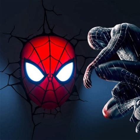 avengers 3d wall light spiderman head 59 87 online