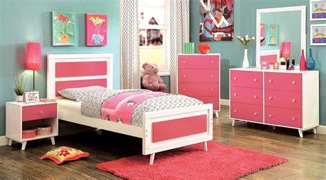 alivia youth pink and white platform bedroom set cm7850pk