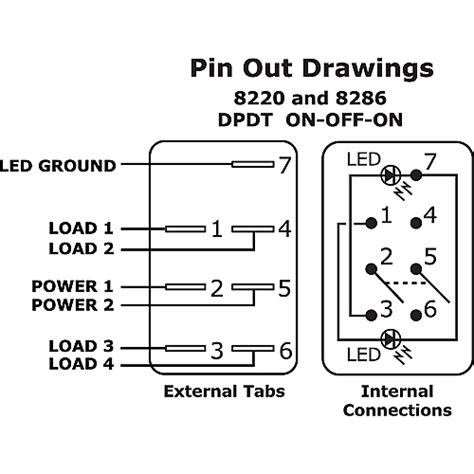Two Way Rocker Switch Wiring Diagram by 6 Pin 3 Way Relay Wiring Diagram Wiring Diagram