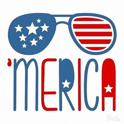Cricut Merica Svg American Clipart July Sunglasses