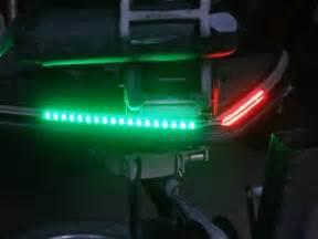 green navigation led light strips for boats kayaks