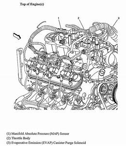 Where Is The Map Sensor Located On A 2005 Chevy Silverado With A 5 3 Thanks Jim