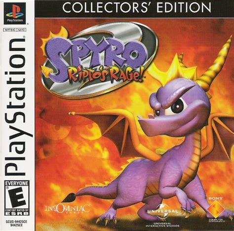 spyro collectors edition  playstation box cover