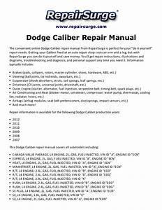 Dodge Caliber Repair Manual 2007