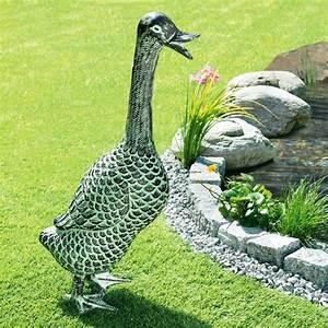 Pro Idee Garten : gartenskulptur ente 3 jahre garantie pro idee ~ Watch28wear.com Haus und Dekorationen