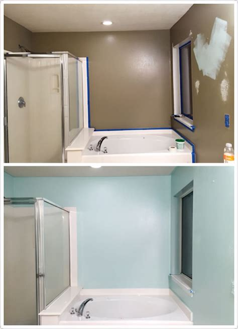 Behr Bathroom Paint Color Ideas by Bathroom Makeover Diy Paint Behr Mint Time