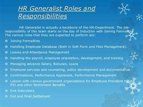 Questions For Hr Generalist by Sle Cover Letter For Hr Generalist
