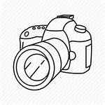 Camera Canon Icon Dslr Digital Drawing Icons