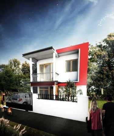 model desain tampak depan rumah minimalis  lantai