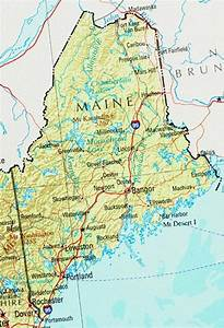 Maine Reference Map