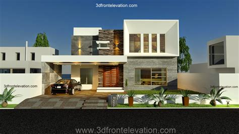 Elevation New Kanal Contemporary House Design Pakistan