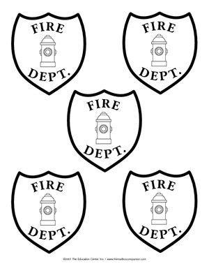 kindergarten art fireman fireman hat hat template