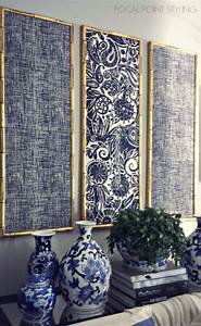 Wall decoration using cloth : Best ideas about fabric wall decor on