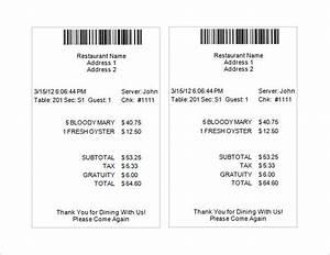 Restaurant receipt template 5 free word excel pdf for Restaurant receipts templates
