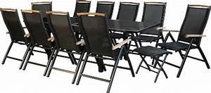 Gartenmöbel Set 12 Personen : ib style diplomat plus gartengarnitur 4 kombinationen 2 farben alu schwarz teakholz ~ Bigdaddyawards.com Haus und Dekorationen