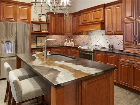 Painted Backsplash Ideas Kitchen - glass kitchen countertops hgtv
