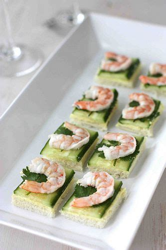 canapes with prawns shrimp cucumber curry cheese canapes recipe